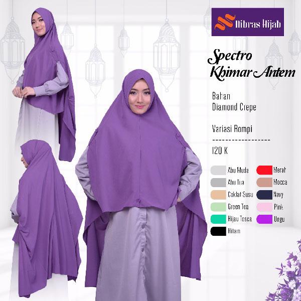 Nh Spectro Khimar Antem Rumah Madani Busana Muslim