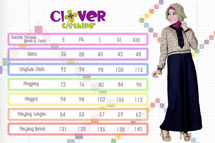 size pack busana muslim clover clothing