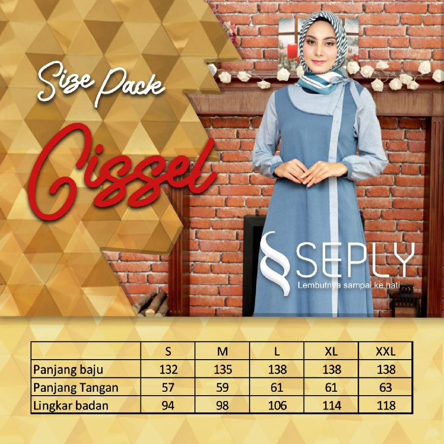 size pack busana muslim seply