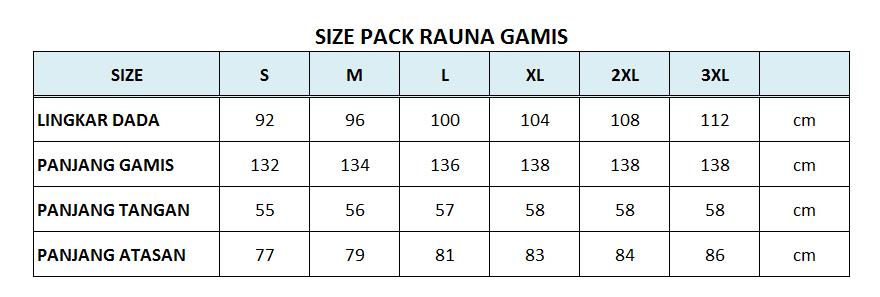 size pack busana muslim rauna