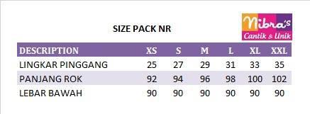 size pack busana muslim nibras
