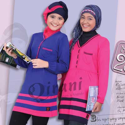 qt 23 new qirani all season's trendy busana muslim remaja berbahan kaos,Model Busana Muslim Qirani Terbaru